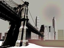 城市地平线 向量例证