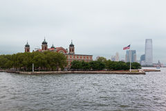 城市埃利斯岛纽约 免版税库存图片
