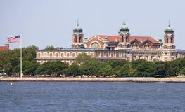 城市埃利斯岛纽约 免版税库存照片