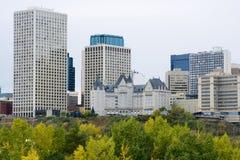 城市埃德蒙顿地平线 免版税库存照片