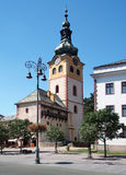 城市城堡在Banska Bystrica,斯洛伐克 库存照片