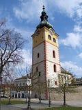 城市城堡塔在Banska Bystrica 免版税库存照片