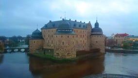 城市城堡的看法 库存照片