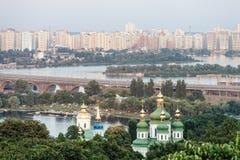 城市基辅的全景 免版税库存图片