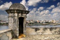 城市堡垒哈瓦那地平线墙壁 免版税库存照片