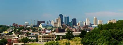 城市堪萨斯全景地平线 库存照片