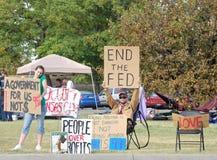 城市堪萨斯占用抗议者 库存照片