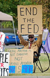城市堪萨斯占用抗议者 库存图片