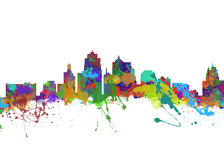 城市堪萨斯密苏里 库存照片