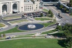 城市堪萨斯横向 免版税库存图片