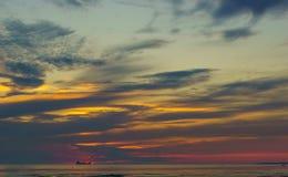 城市塔林看法从波罗的海的 图库摄影