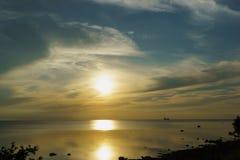 城市塔林看法从波罗的海的 库存照片