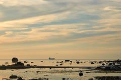 城市塔林看法从波罗的海的 免版税图库摄影