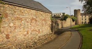 城市墙壁和塔 韦克斯福德镇 Co 韦克斯福德 爱尔兰 库存照片