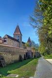 城市墙壁在安伯格,德国 免版税库存照片