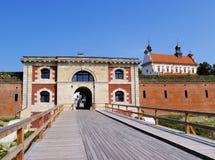 城市墙壁在Zamosc 库存图片