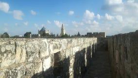 从城市墙壁看见的耶路撒冷 库存图片