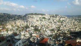 从城市墙壁看见的耶路撒冷 免版税图库摄影