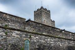 城市墙壁Derry北爱尔兰 库存照片