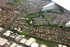 城市墨尔本俯视 免版税库存照片