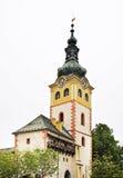 城市外堡在Banska Bystrica 斯洛伐克 免版税库存图片