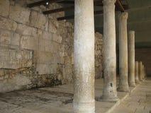 城市外部耶路撒冷尖塔老墙壁 免版税库存照片