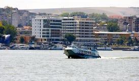 城市多瑙河tulcea视图 免版税库存照片