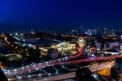 城市夜光 图库摄影