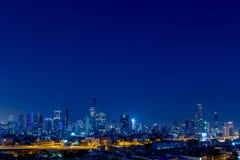 城市夜光 库存照片