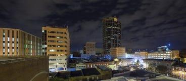 城市夜全景  免版税图库摄影
