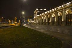 城市夜在布达佩斯 免版税库存图片