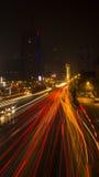 城市夜场面 库存图片