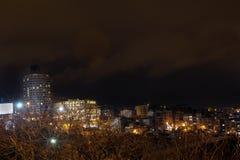 城市夜场面Tepebasi伊斯坦布尔 免版税库存照片