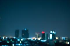 城市夜点燃抽象背景 免版税图库摄影
