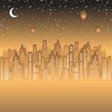 城市夜生活 库存例证
