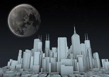 城市夜间 免版税库存照片