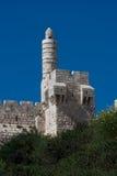 城市大卫jeruslaem老塔 免版税库存图片