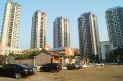 城市大厦在深圳 免版税库存照片