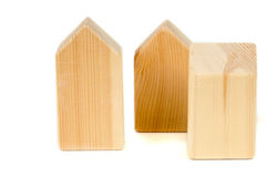 城市大厦概念,木块 免版税库存图片
