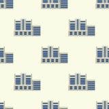 城市大厦现代塔办公室建筑学无缝的样式房子企业公寓家门面传染媒介 免版税库存图片