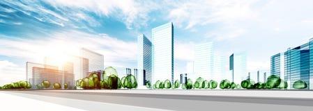 城市大厦生态 免版税库存图片