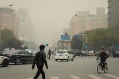 城市大气污染 库存照片