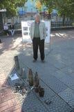 城市天在卢甘斯克 免版税库存图片