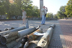城市天在卢甘斯克 图库摄影