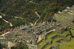 城市失去的machu秘鲁picchu 免版税图库摄影