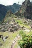 城市失去的machu秘鲁picchu 图库摄影
