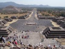 城市失去teotihuacan 免版税库存图片