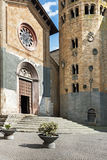 城市奥尔维耶托,意大利,托斯卡纳的街道 免版税图库摄影