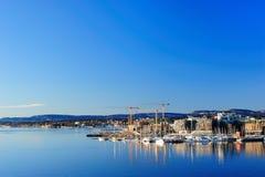 城市奥斯陆视图 免版税库存图片