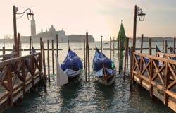城市威尼斯的看法。 免版税库存照片